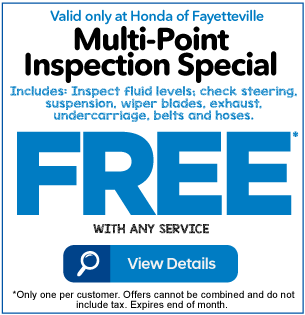 Multi-Point Inspection Special Free with any service