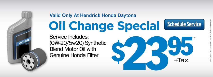 Oil filter change specials daytona beach fl for Honda civic oil change cost