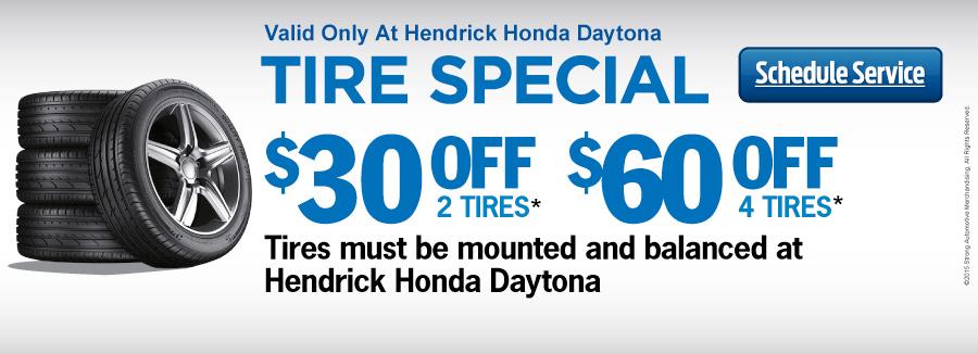 Honda tire specials daytona beach fl for Hendrick honda daytona