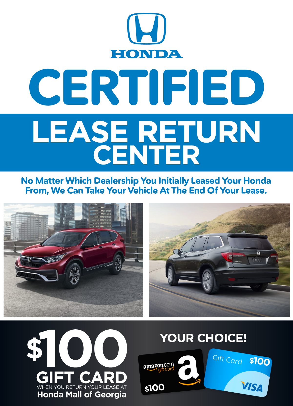 Honda Certified Lease Return Center - We Can Take Your Vehicle at the End of Your Lease