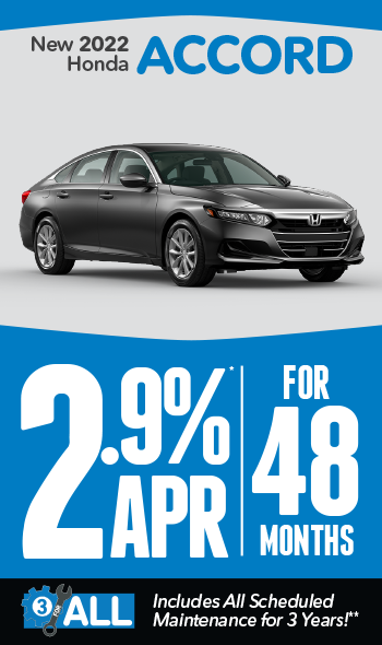 New 2021 Honda Accord | 1.9% APR for 60 months