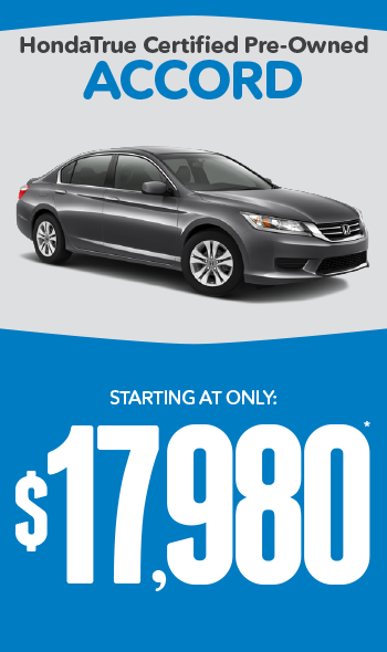 Certified Pre-Owned Honda Accords | Starting at only $17,980