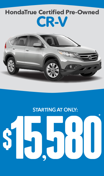 Certified Pre-Owned Honda CR-Vs | Starting at only $19,880