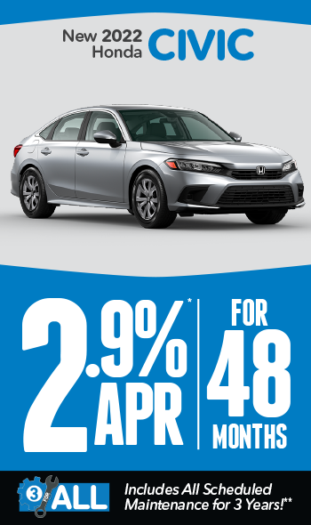 New 2021 Honda Civic | 1.9% APR for 60 months
