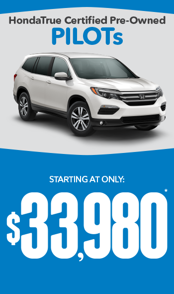 Certified Pre-Owned Honda Pilots | Starting at only $22,480