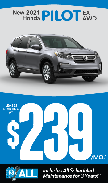New 2021 Honda Pilot | Leases starting at $239 a month