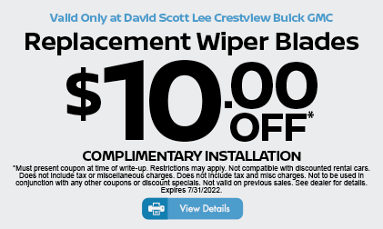 Replacement Wiper Blades $10 Off* Click for details.