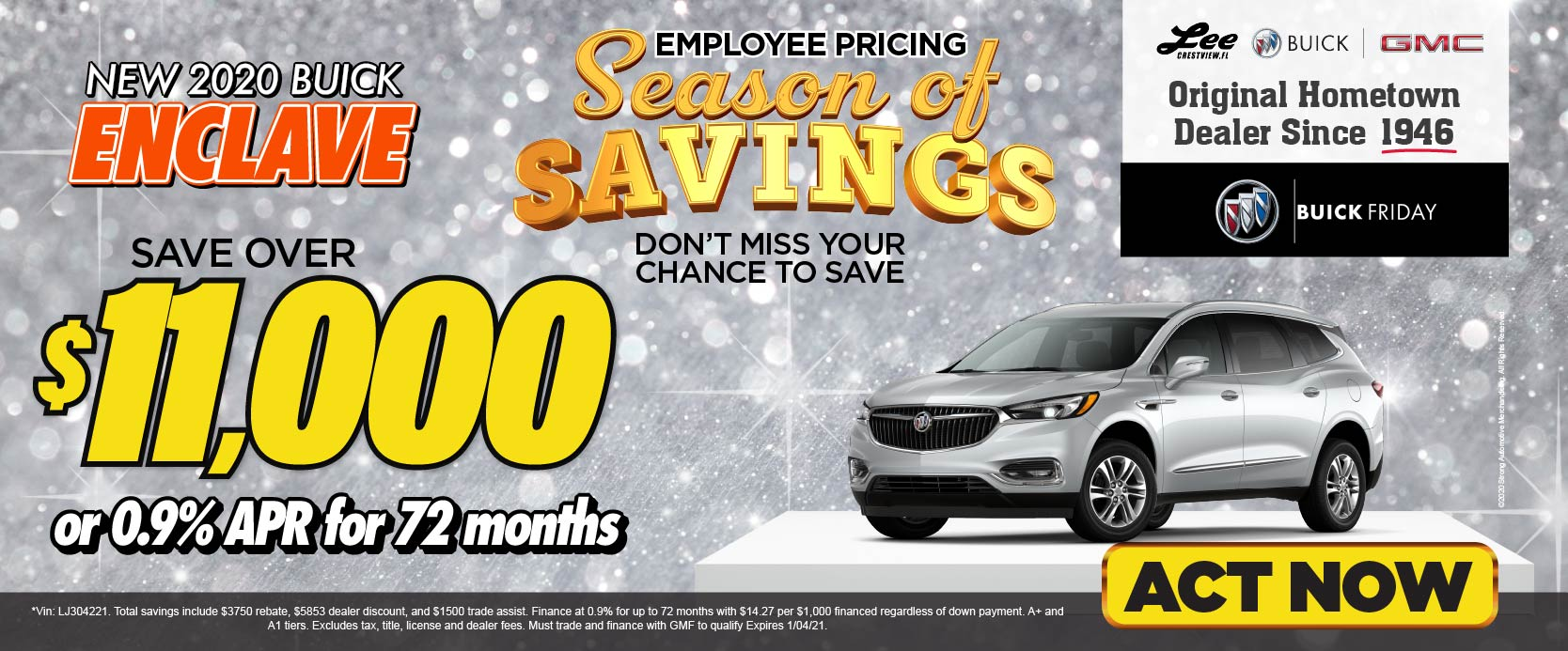 2020 Buick Envision save over $9,000 Employee Pricing For Everyone | Act Now