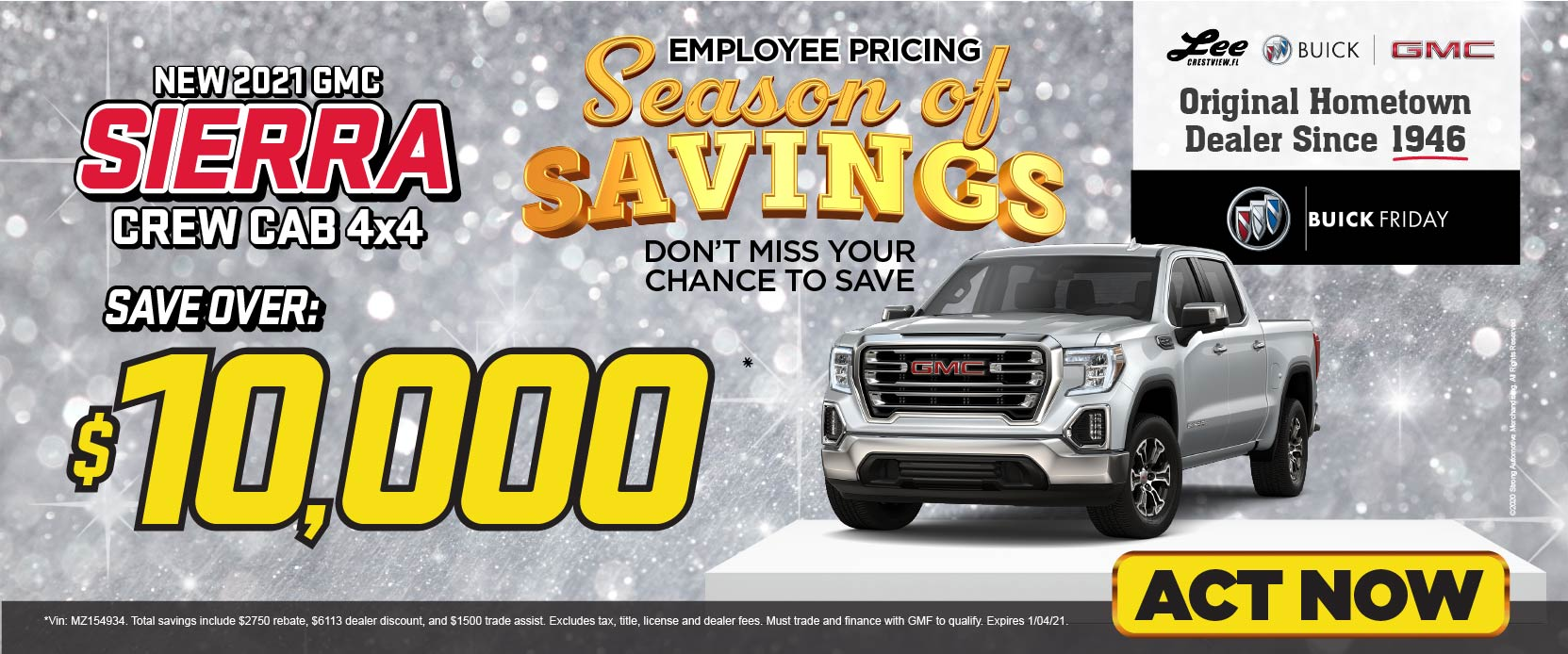 2020 GMC Acadia save over $8,000 Employee Pricing For Everyone | Act Now
