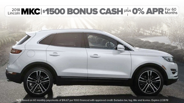 New 2018 Lincoln MKC Offer