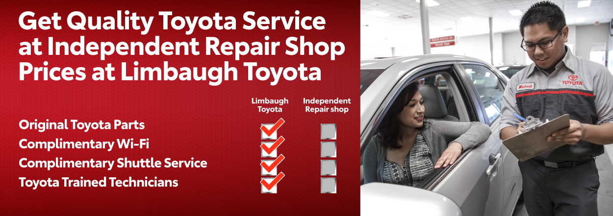 Get quality Toyota service at Limbaugh Toyota