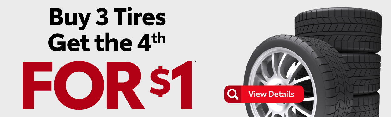 Buy 3 Tires Get the 4th for $1 - View Details