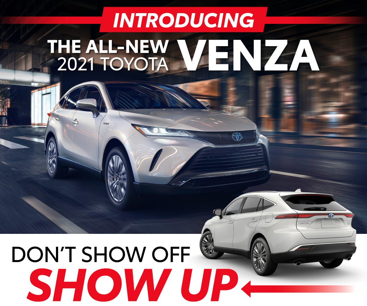 Introducing the ALl-New 2021 Toyota Venza at Limbaugh Toyota - Don't Show Off, SHOW UP