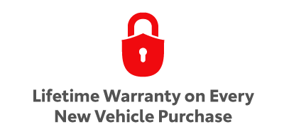 Lifetime Warranty on Every New Vehicle Purchase