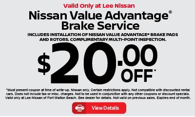 Nissan Value Advantage Brake Service $20 off. click for details.