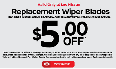 Replacement Wiper Blades $5 off. Click for details.