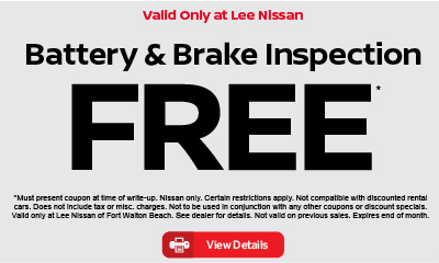 Battery and Brake Inspection Free. Click for details.