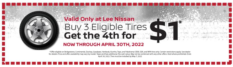 Buy 3 tires get 1 for $1. Click for details.