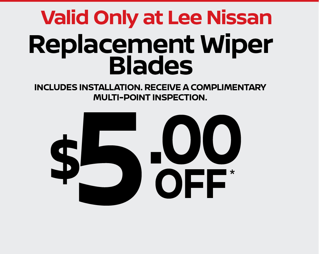Replacement Wiper Blades $5 off.