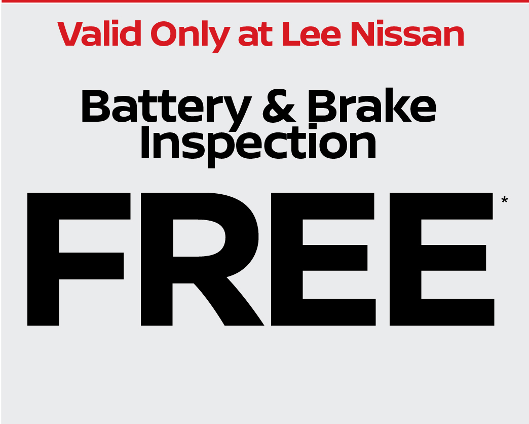 Battery and Brake Inspection Free.