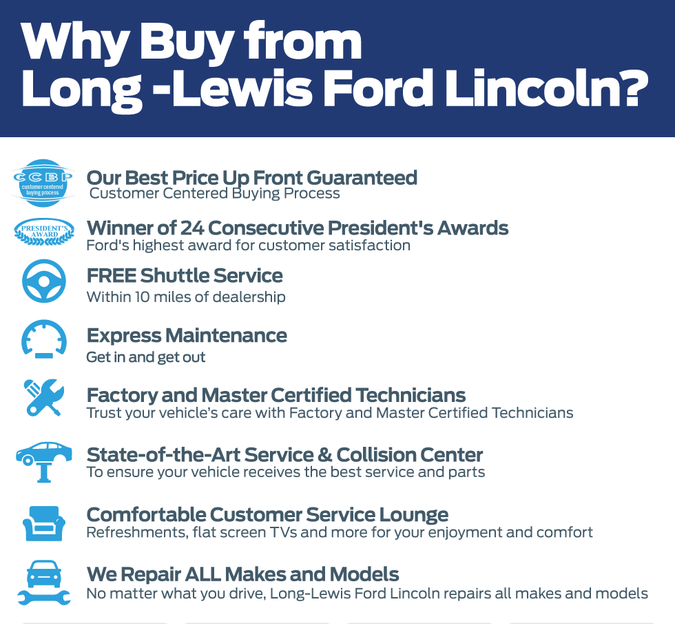Why Buy From Long-Lewis Ford Lincoln