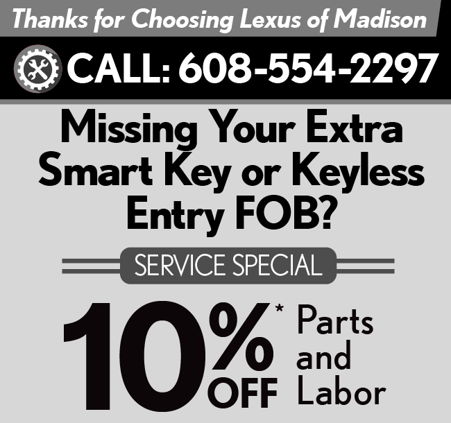 Thank you for choosing Lexus of Madison