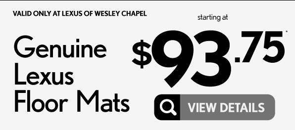 Genuine Lexus Floor Mats $93.75 - View Details