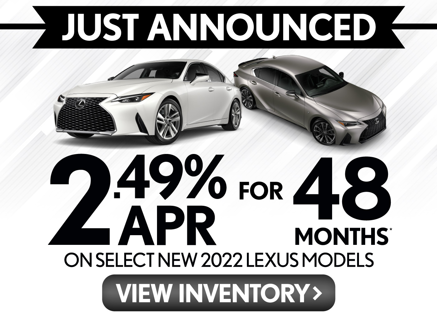 JUST ANNOUNCED: No payments for 90 days on any new 2020 Lexus or up to $6000 Lexus Lease Loyalty Cash