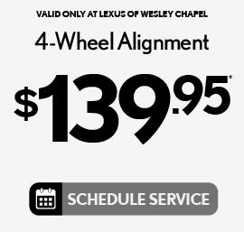4-Wheel Alignment $129.95 - Schedule Service