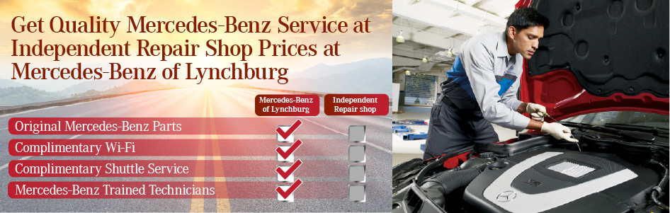 Get Quality Service at Independent Repair Shop Prices at Mercedes-Benz of Lynchburg