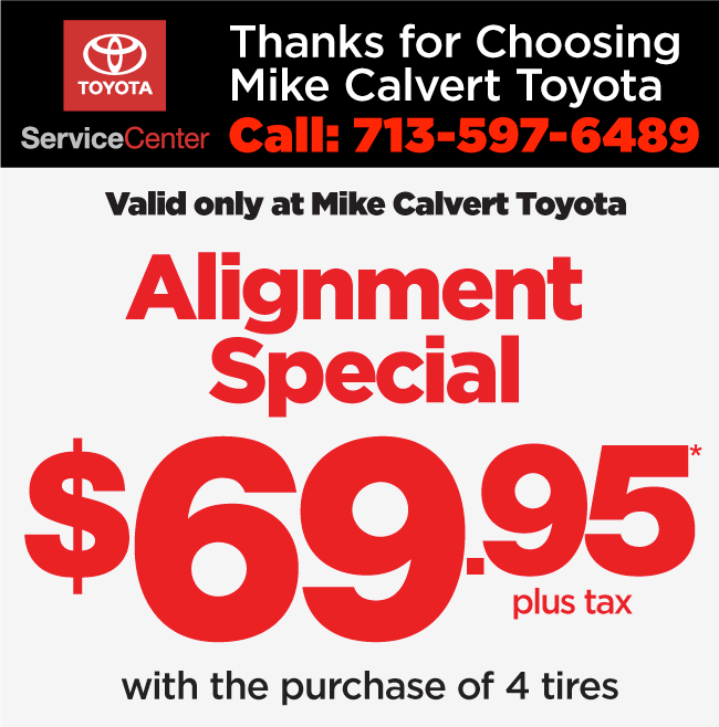 Service Specials 6 Taken Off Regularly Posted Prices Valid With Coupon Only Plus Fees And S Tax At Mike Calvert Toyota