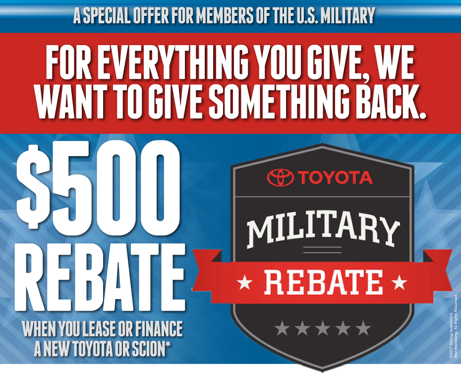 Mike Calvert Toyota - A Special Offer for Members of the US Military