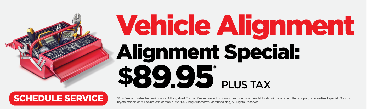 Vehicle Alignment Near Me >> Toyota Alignment Mike Calvert Toyota