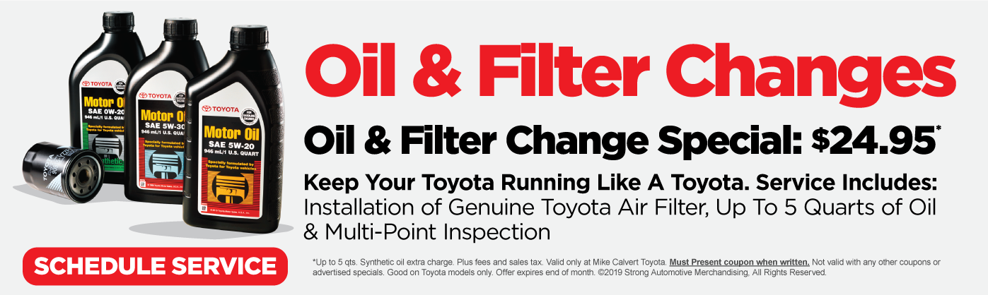 Mike Calvert Toyota Genuine Oil Change