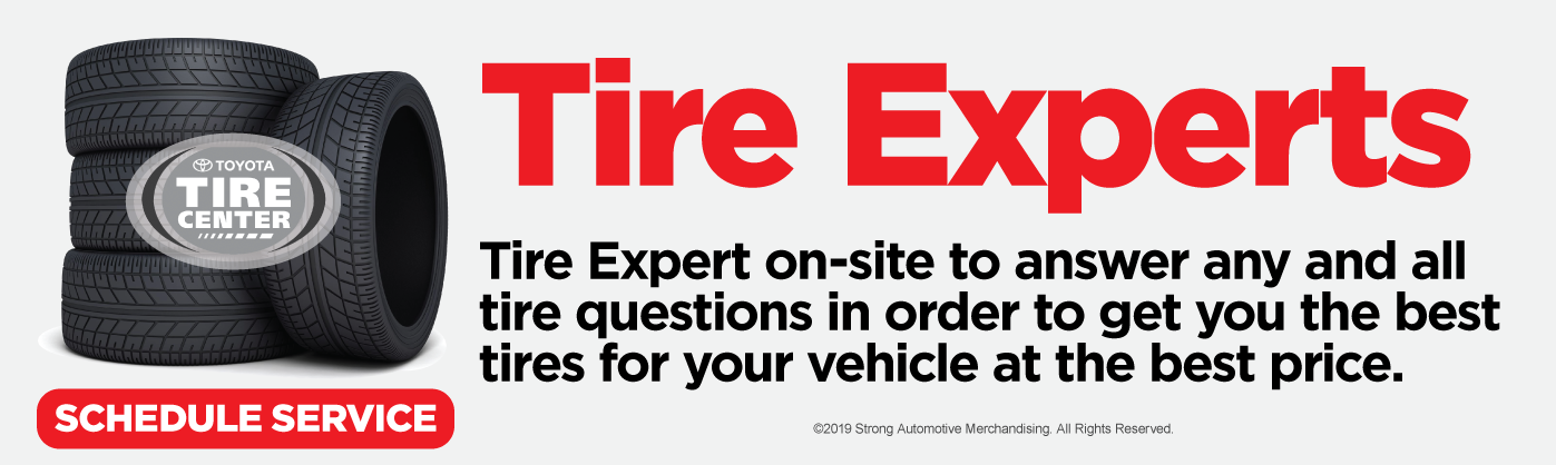 tire experts. click here to schedule service.