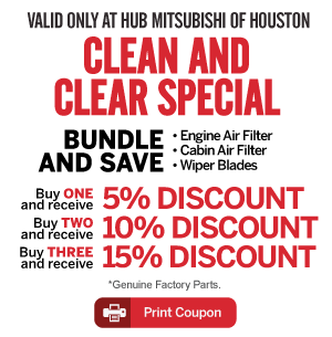 Service Specials at Hub Mitsubishi of Houston