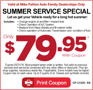 Click Here for Service Special