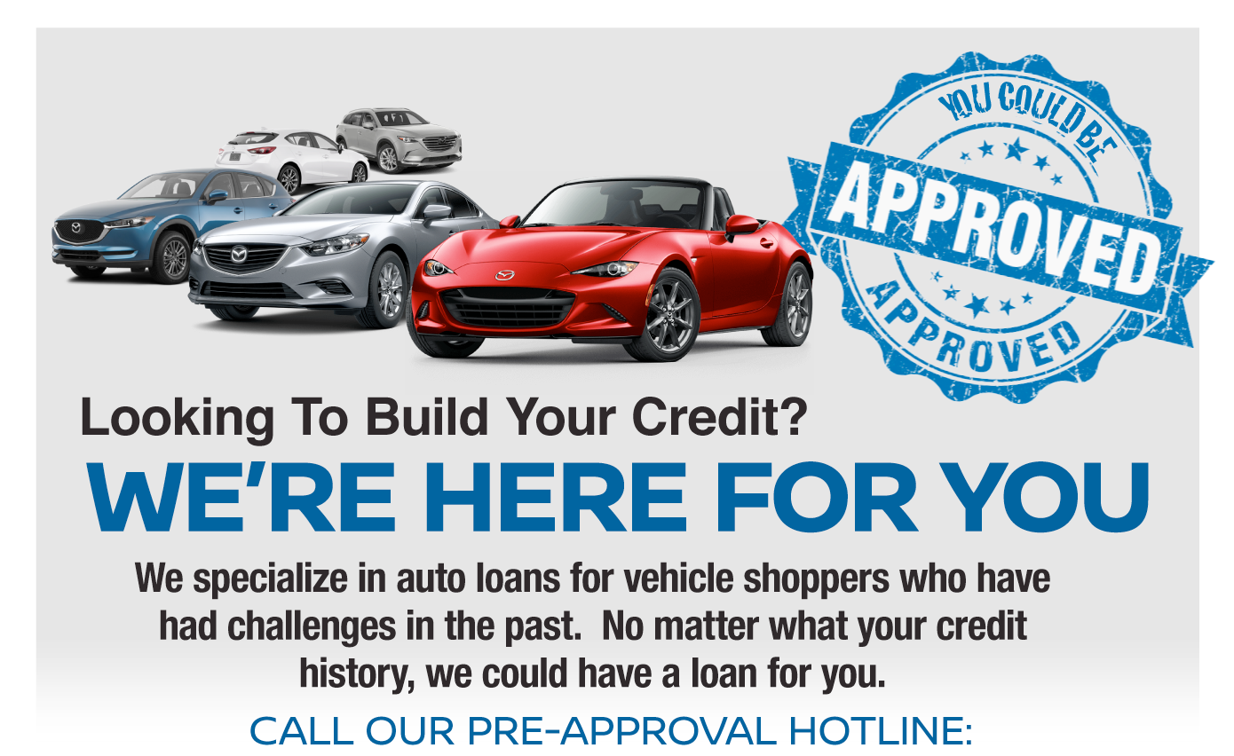 Looking to build your credit? We're here for you!