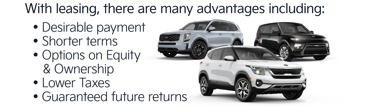 With leasing, there are many advantages including: desirable payment, shorter terms, and more.