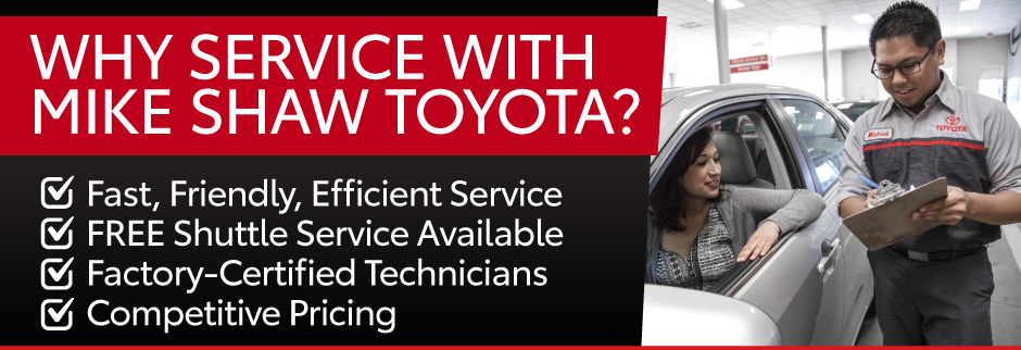 Get Quality Toyota Parts at Independent Repair Shop Prices at Mike Shaw Toyota. Original Toyota Parts. Complimentary Wi-Fi. Complimentary Shuttle Service.Toyota Trained Technicians.