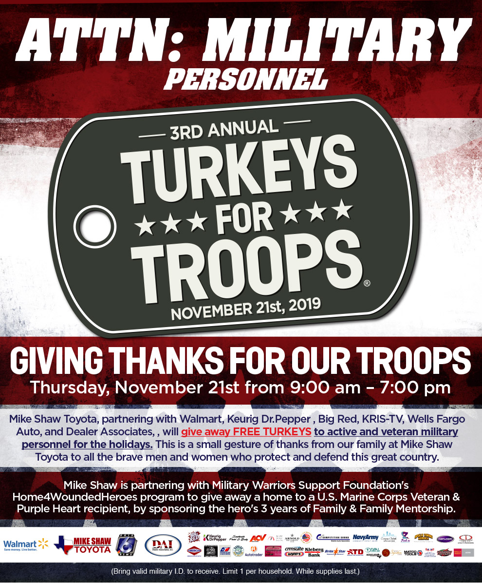 Turkey For Troops 2019