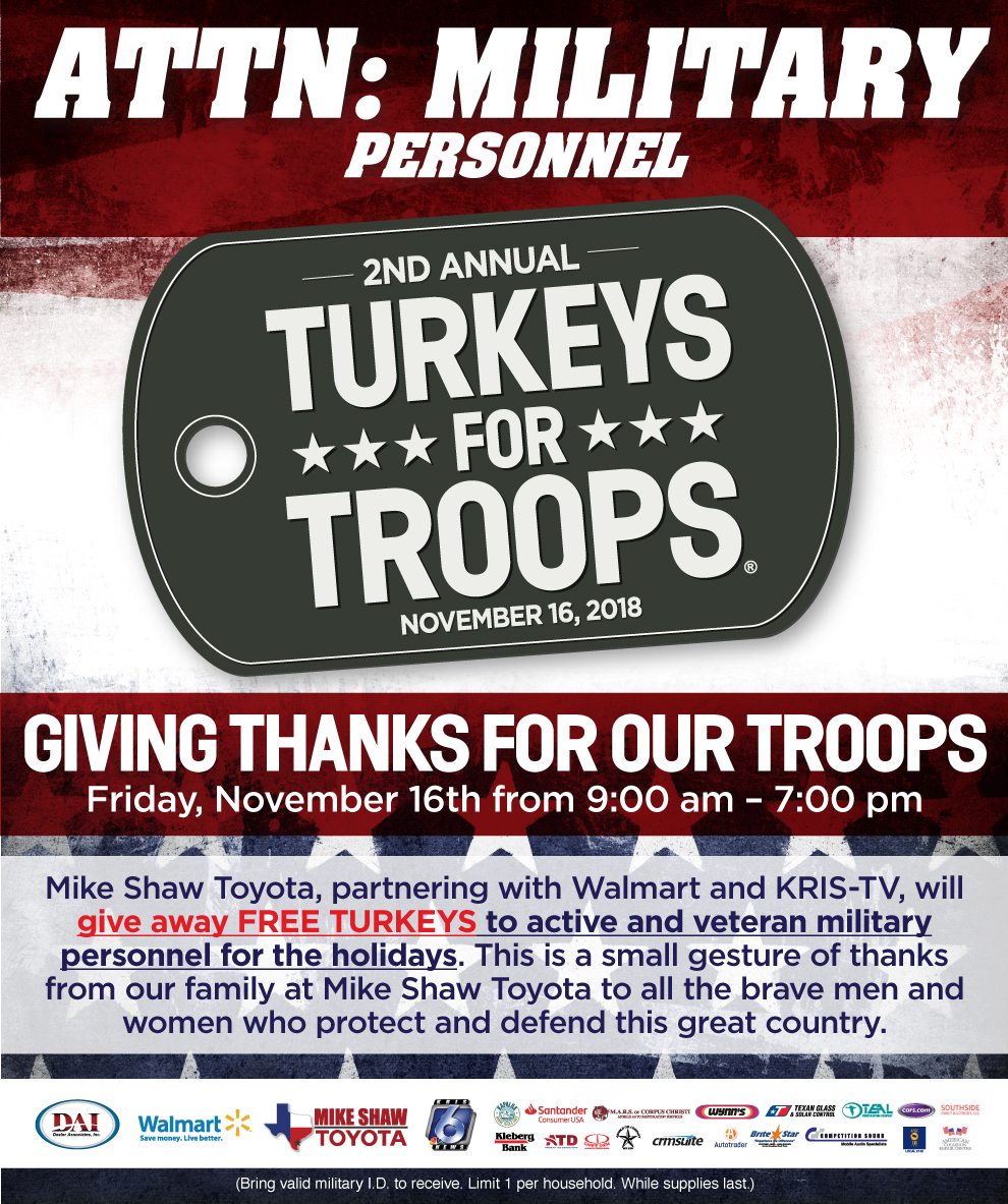 Turkey For Troops
