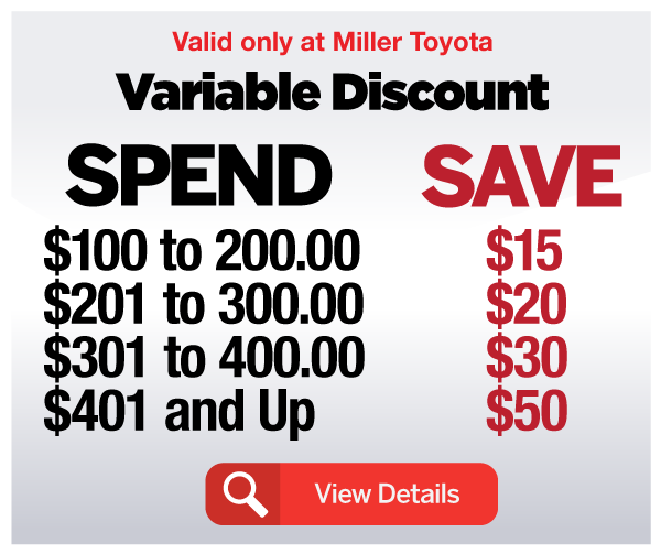 Spend and Save Variable Discount - View Details
