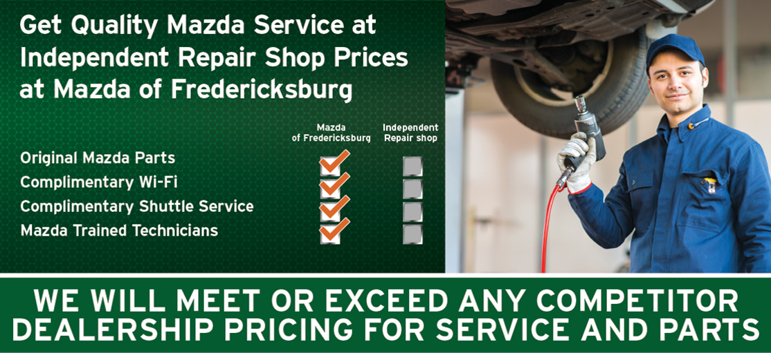 Get Quality Mazda Service at Independent Repair Shop Prices at Mazda of Fredericksburg
