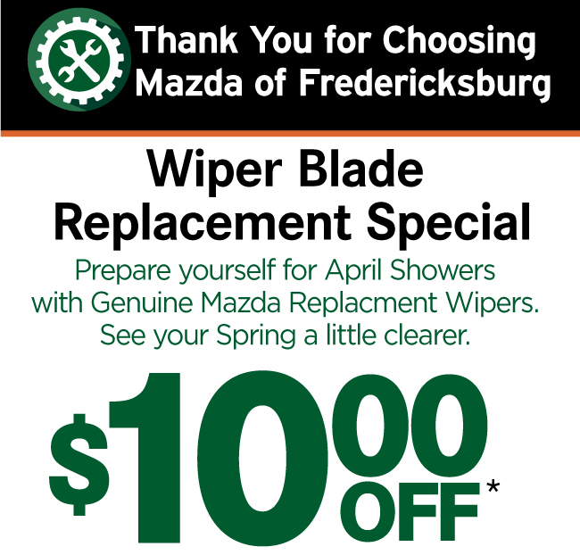 Mazda of Fredericksburg Service and Parts Printable Coupon