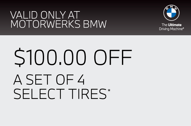 $100.00 Off a set of 4 select tires.