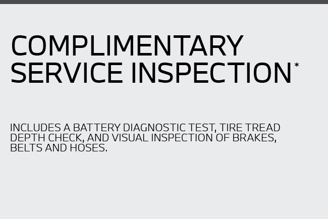 Complimentary Service Inspection*