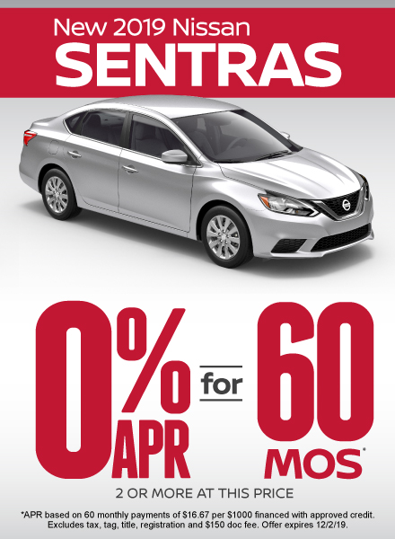 Sentra Special - Click Here to Take Advantage of this Offer