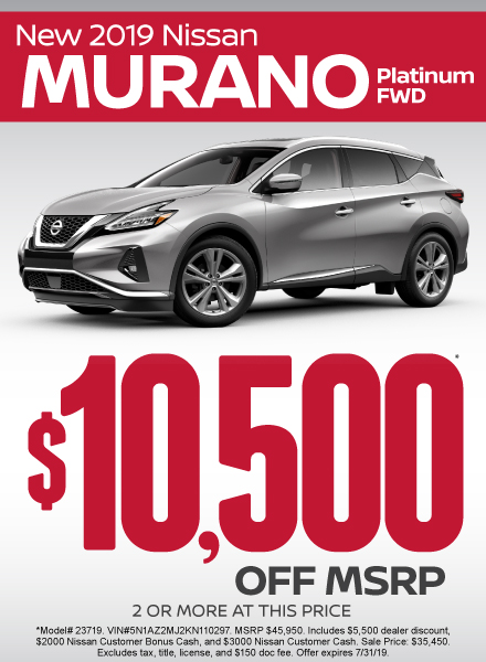 Nissan Murano SPECIALS Near Austin | Nissan of San Marcos