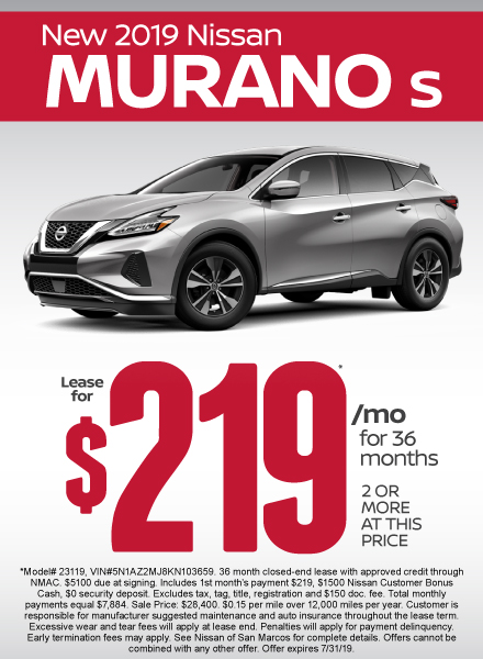 Murano Special - Click Here to Take Advantage of this Offer